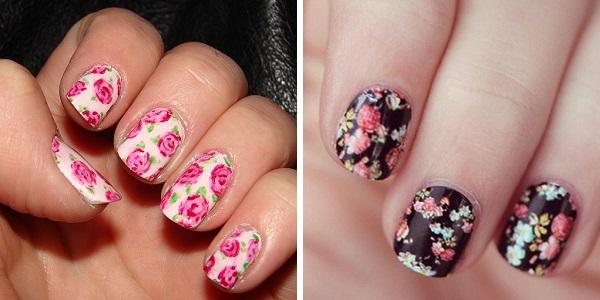 Цветки на ногтях как рисовать