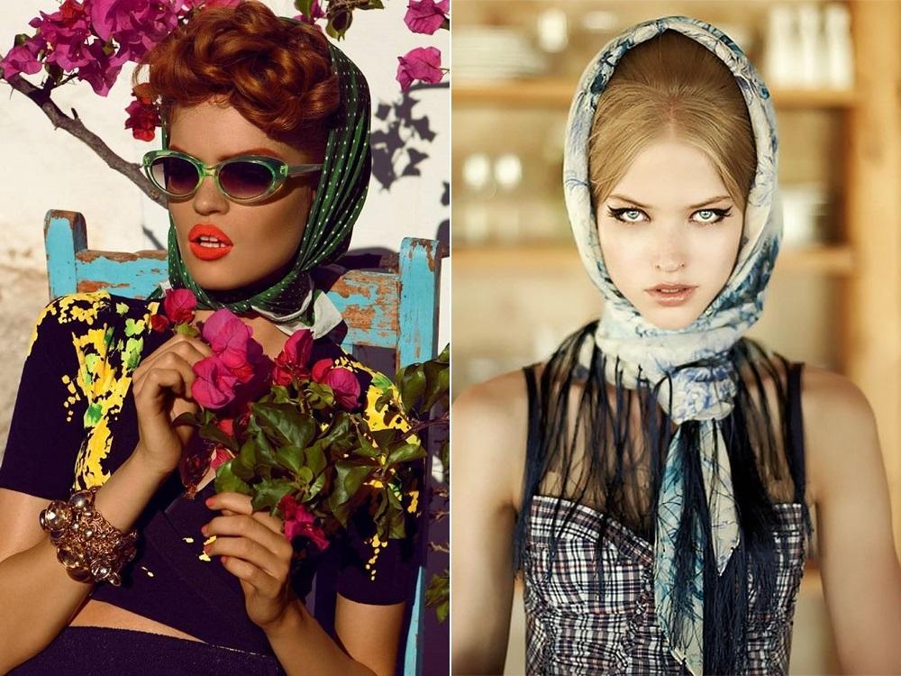 Модный платок на голову 153
