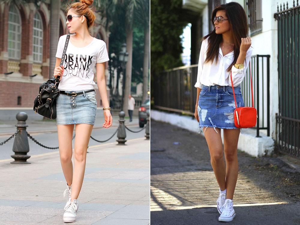 С чем носить юбку мини летом