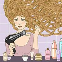Суши волосы естественным путем