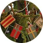 Украшение елки в скандинаском стиле