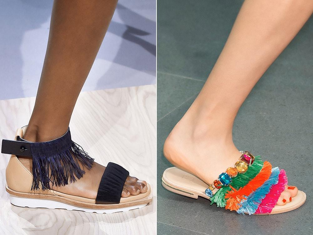 Обувь с бахромой: Issey Miyake, Stella Jean