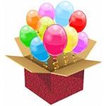 Сюрприз подруге - коробка с воздушными шарами