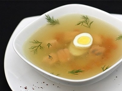 Рыбный суп с лососем