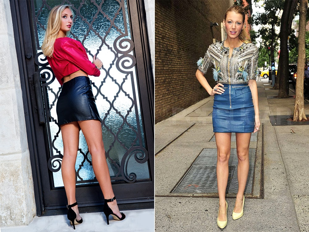 С чем носить кожаную мини-юбку