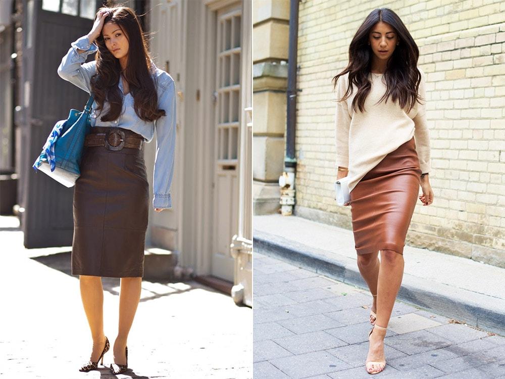 С чем носить юбку-карандаш: деловой стиль
