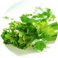 Употребление листовых овощей и зелени