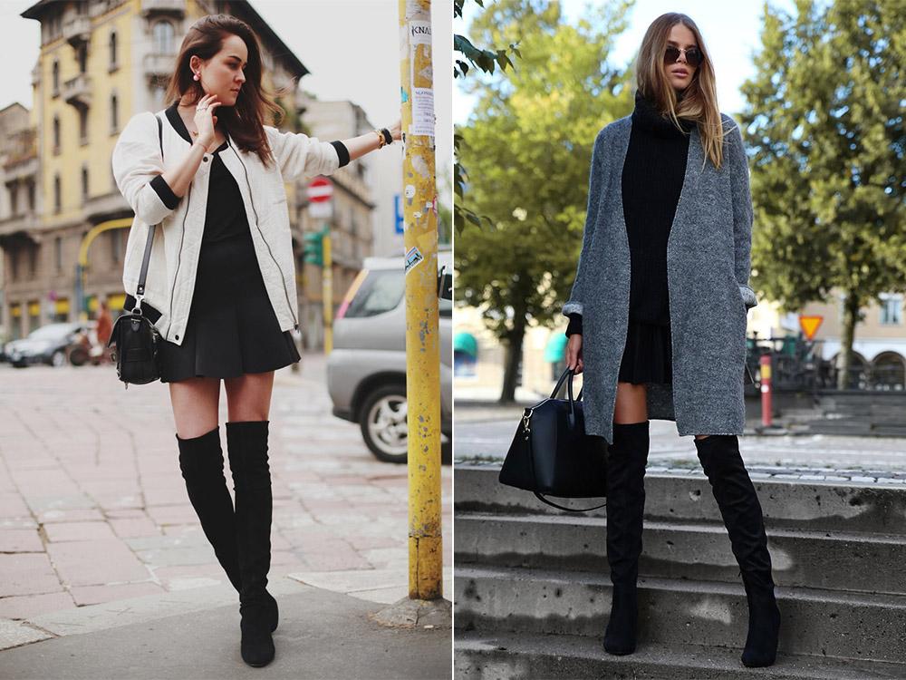 Ботфорты с пальто и курткой