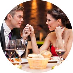 Романтический ужин в ресторане