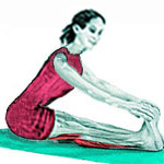 Упражнение на растяжку бицепса бедра