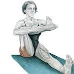 Упражнение на растяжку ягодичных мышц