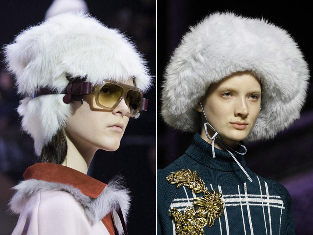 Меховые шапки осень-зима 2017-2018