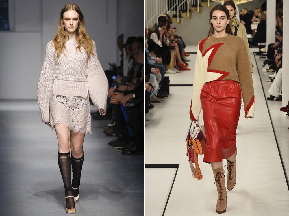 Осень-зима 2017-2018 модные тенденции вязание 578