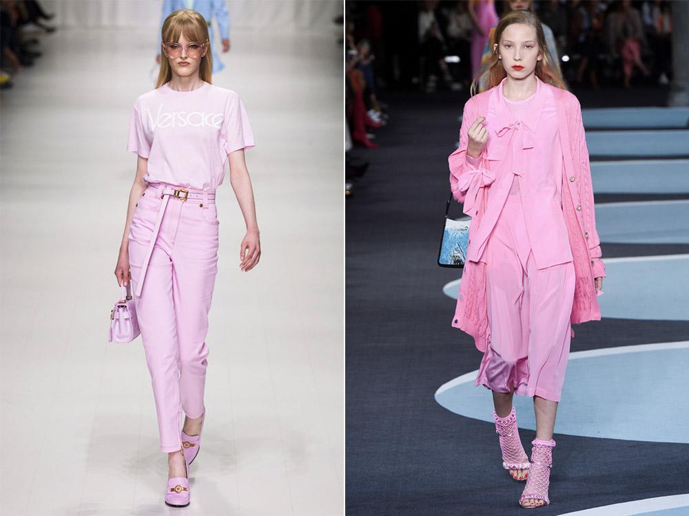Тенденция розовый total look весна-лето 2018
