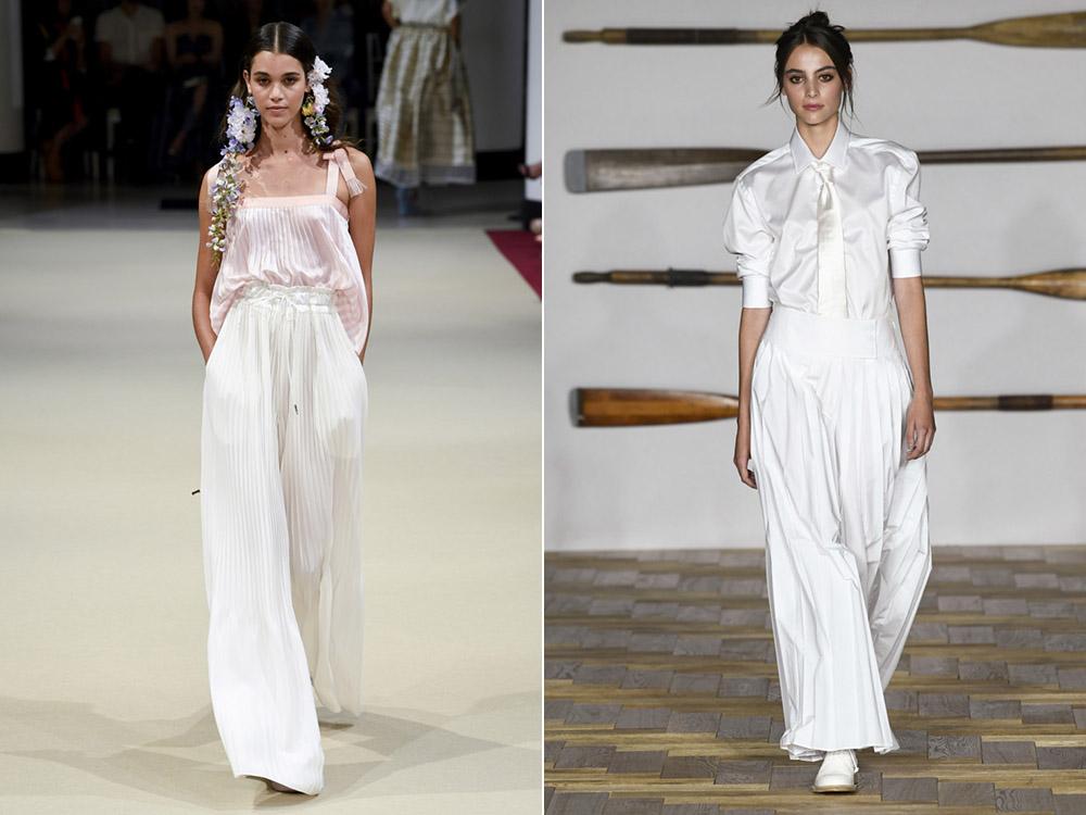 Белые брюки весна-лето 2018