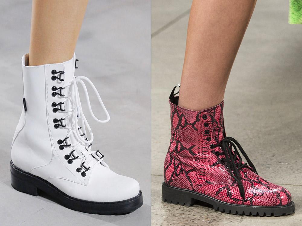 Грубые ботинки весна-лето 2018