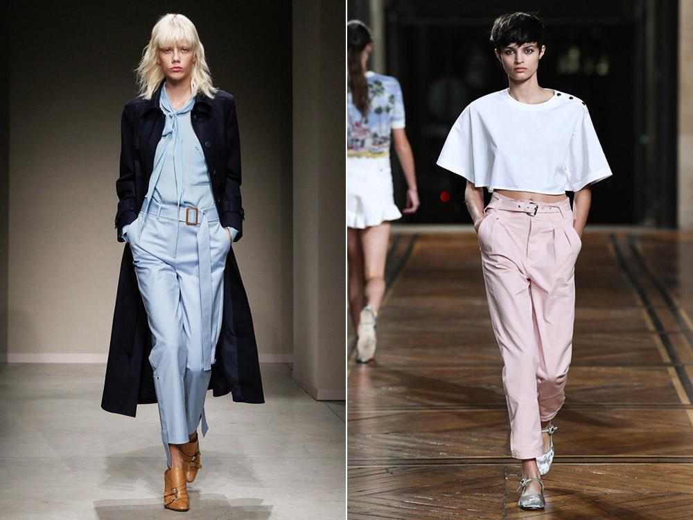 С чем носить модные широкие брюки кюлоты изоражения