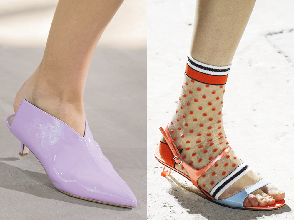 Обувь на низком каблуке весна-лето 2018