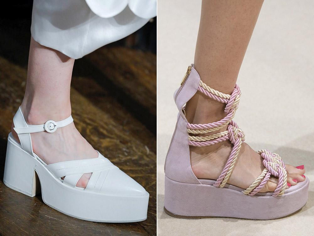 Обувь на платформе весна-лето 2018