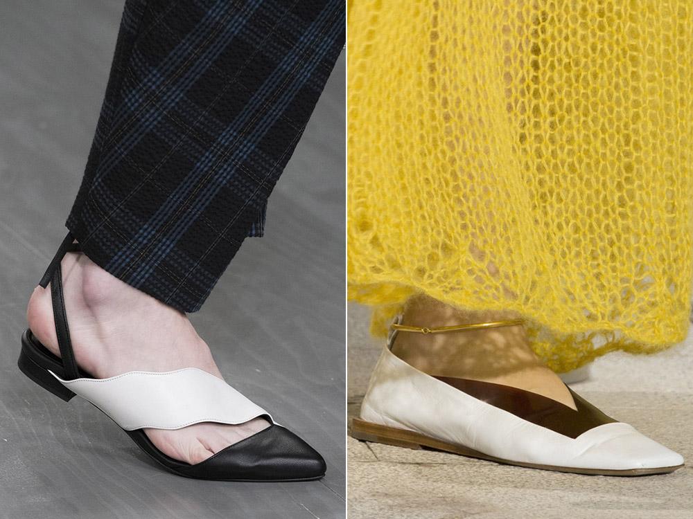 Обувь на плоской подошве весна-лето 2018