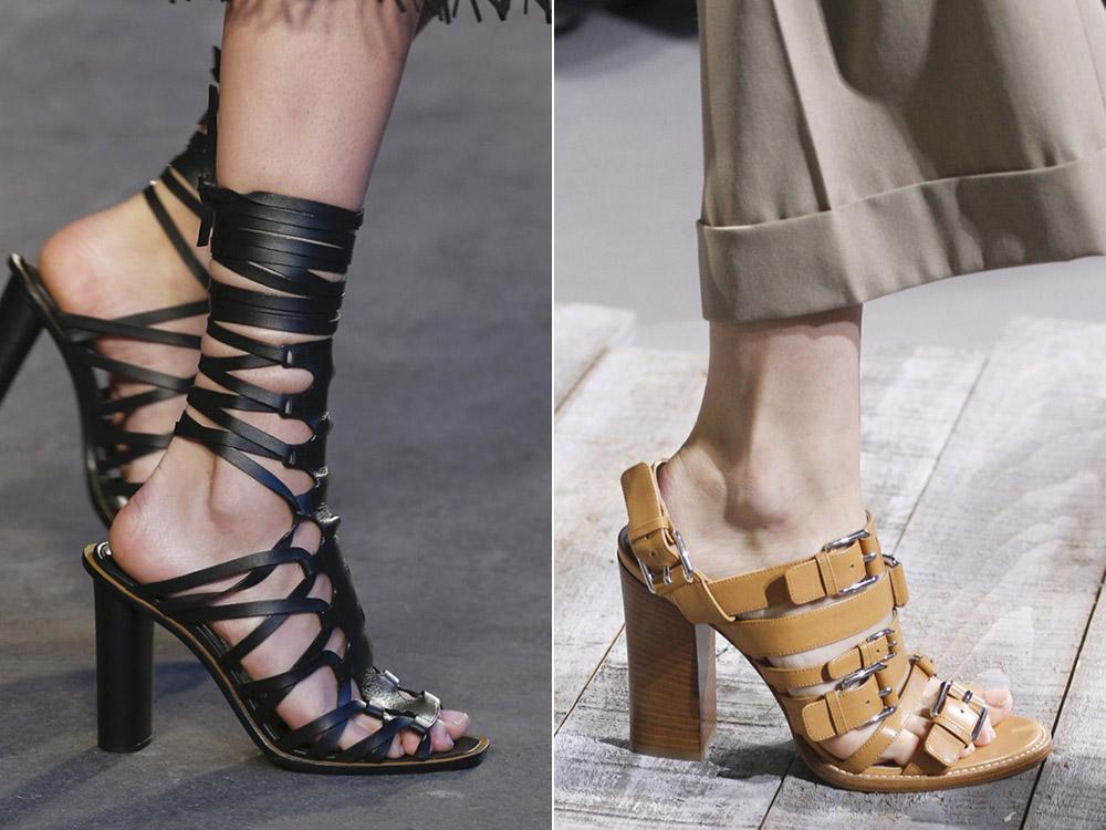 Обувь с ремешками весна-лето 2018