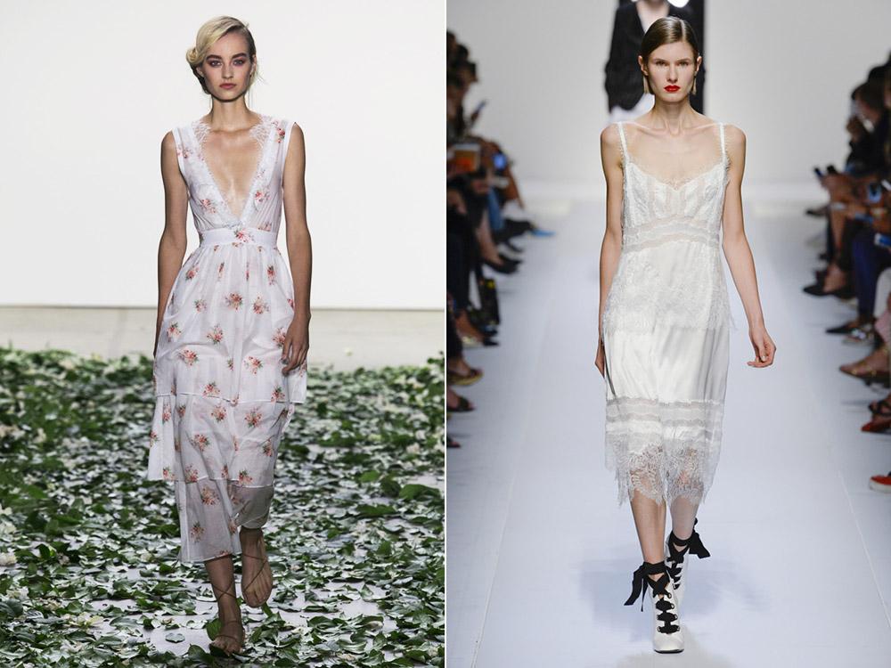 Платье-комбинация весна-лето 2018
