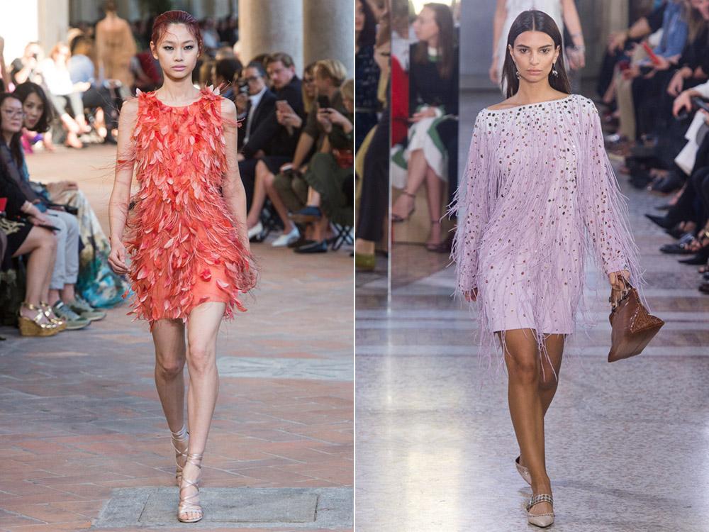 Платья с бахромой весна-лето 2018