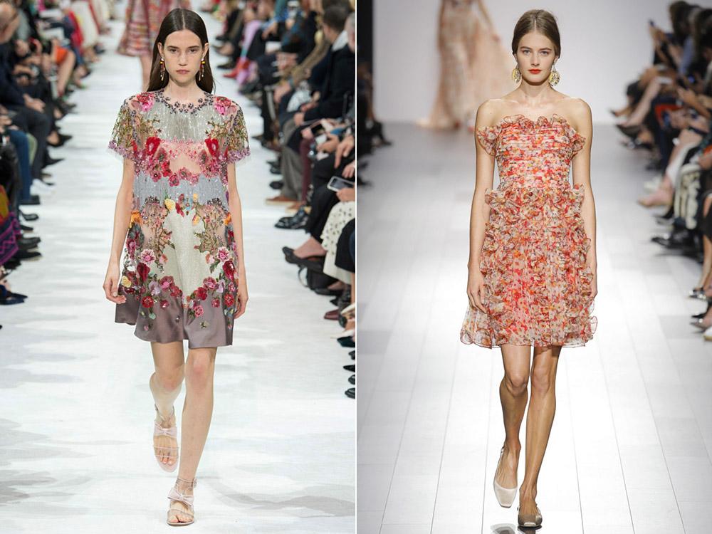 Платья с цветочным принтом весна-лето 2018