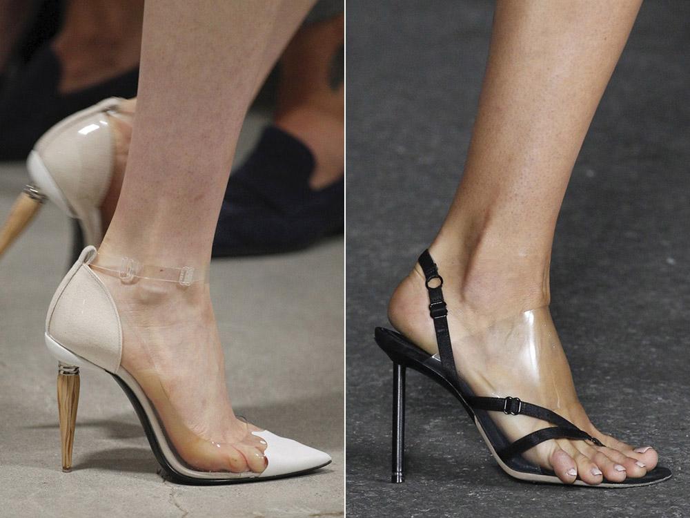 Прозрачная обувь весна-лето 2018