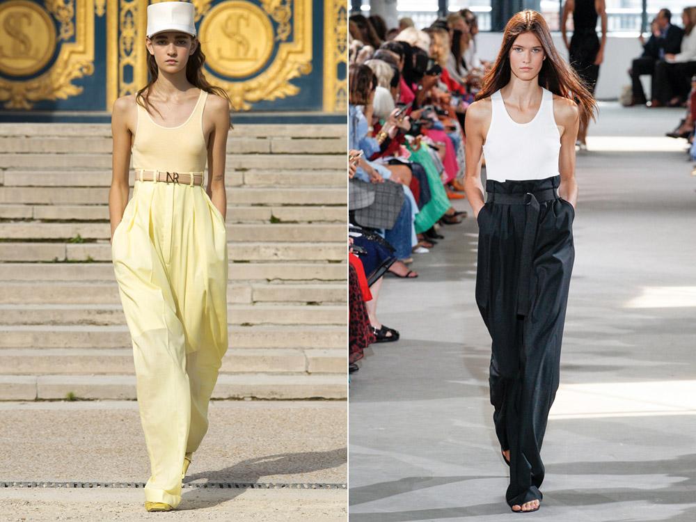 Широкие брюки весна-лето 2018