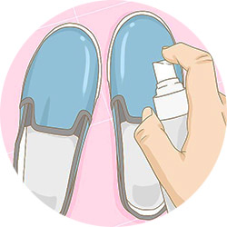 Растяжка обуви специальным средством