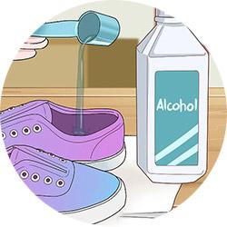 Растяжка обуви шерстяным спиртом