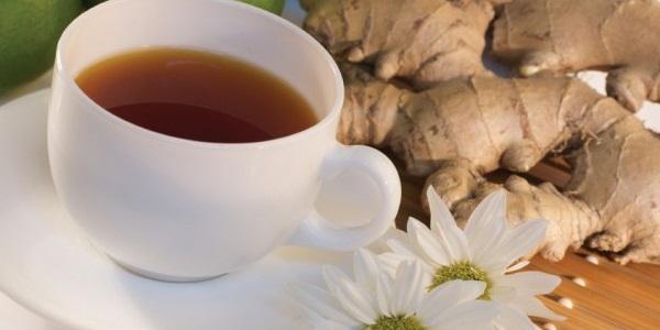 Чай из корня имбиря при диете