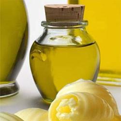 Кокосовое, оливковое и сливочное масло