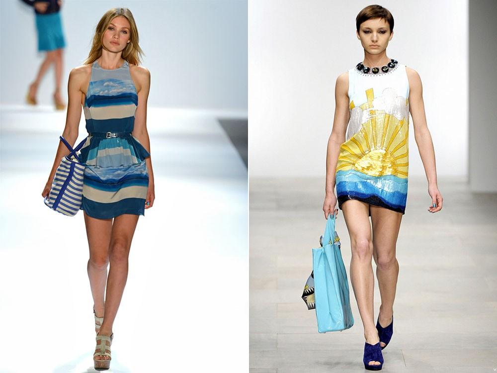 Цвет одежды в морском стиле