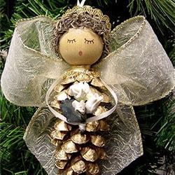 Ангелочек на елку своими руками