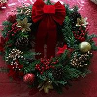 Рождественский венок своими руками - шаг 4