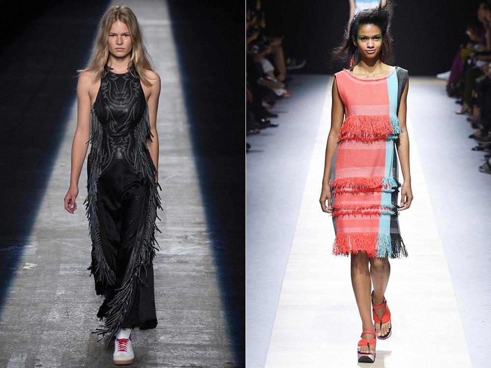 Платья с бахромой: Alexander Wang, Issey Miyake