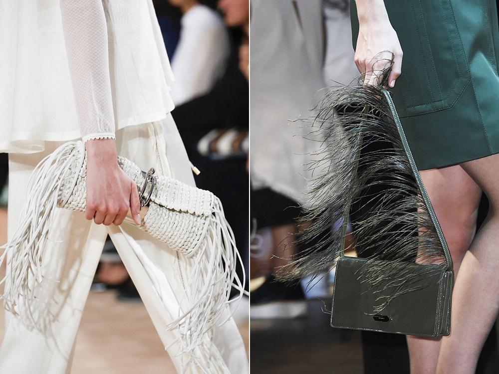 Сумки с бахромой: Balenciaga, Nina Ricci