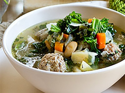 Суп с фрикадельками и овощами