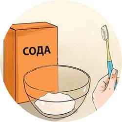 Отбеливание зубов содой