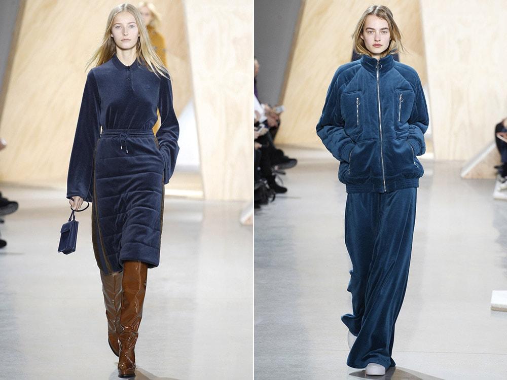 Спортивная одежда из бархата осень-зима 2019-2020