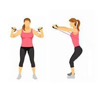 Упражнение с эспандером для грудных мышц
