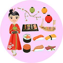 День рождения в японском стиле