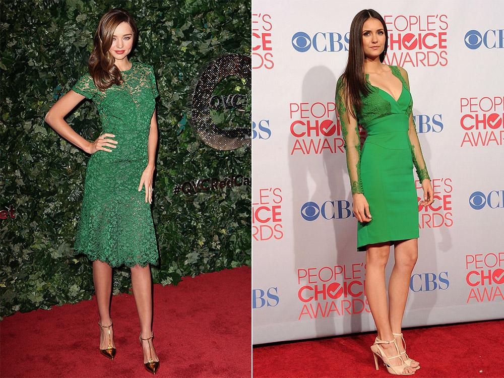 Брюнетки в одежде зеленого цвета