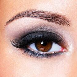Как красить большие глаза