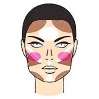 Как наносить хайлайтер на квадратное лицо