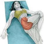 Упражнение на растяжку мышц ягодиц