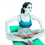 Упражнение на растяжку внутренних мышц бедра