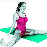 Упражнение на растяжку приводящих мышц бедра